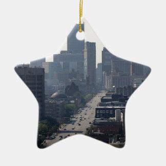 Ornement Étoile En Céramique Horizon de Detroit Michingan