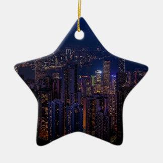 Ornement Étoile En Céramique Horizon de Hong Kong
