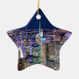Ornement Étoile En Céramique Horizon de New York City