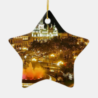 Ornement Étoile En Céramique Horizon de nuit de Madrid
