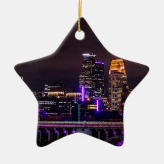 Ornement Étoile En Céramique Horizon de nuit de Minneapolis