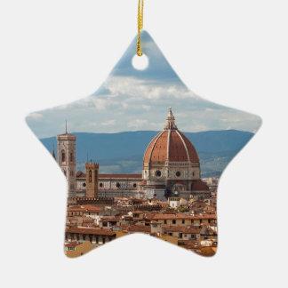 Ornement Étoile En Céramique Horizon de ville de Florence