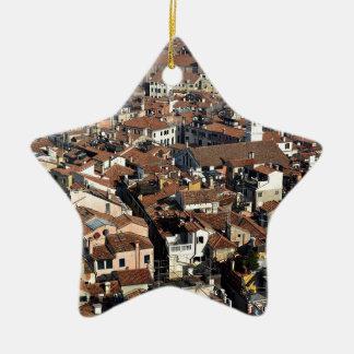 Ornement Étoile En Céramique Horizon de ville de Venise