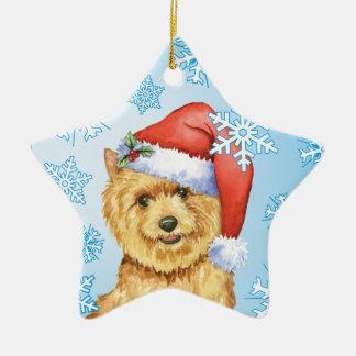 Ornement Étoile En Céramique Howlidays heureux Norwich Terrier