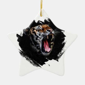 Ornement Étoile En Céramique Hurlement de tigre