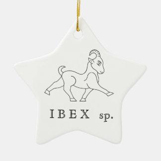 Ornement Étoile En Céramique Ibex sp. Bouquetin