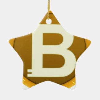 Ornement Étoile En Céramique Icône de Bitcoin