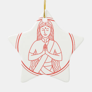 Ornement Étoile En Céramique Icône de Namaste