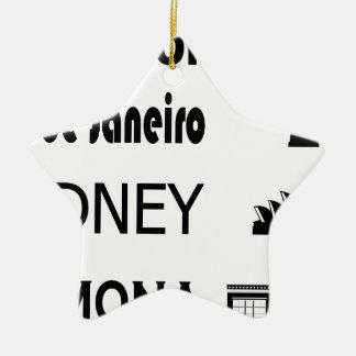 Ornement Étoile En Céramique Icône-Rio-Sidney