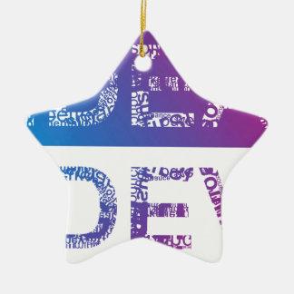 Ornement Étoile En Céramique IDÉE - typographique