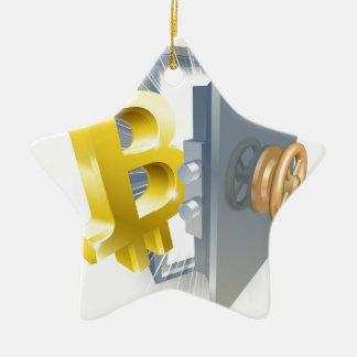 Ornement Étoile En Céramique Illustration de coffre-fort de Bitcoin