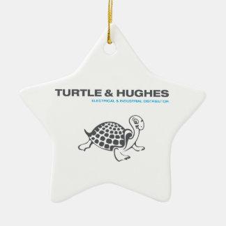 Ornement Étoile En Céramique Illustration de tortue et de Hughes