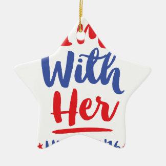 Ornement Étoile En Céramique Im avec elle - Hillary 2016