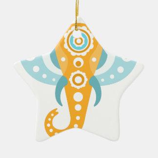 Ornement Étoile En Céramique Indien d'éléphant