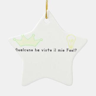 Ornement Étoile En Céramique Italien-Imbécile