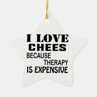 Ornement Étoile En Céramique J'aime des échecs puisque la thérapie est chère