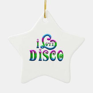Ornement Étoile En Céramique J'aime la disco