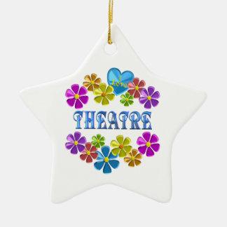 Ornement Étoile En Céramique J'aime le théâtre