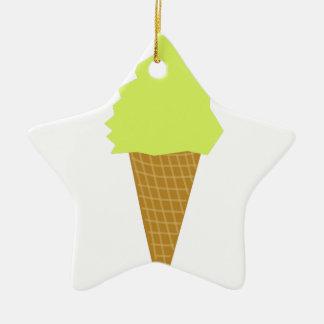 Ornement Étoile En Céramique jaune de style d'amusement de crème glacée
