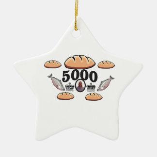Ornement Étoile En Céramique JC alimente 5000 âmes