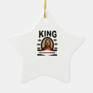 Ornement Étoile En Céramique jc de gentillesse de roi