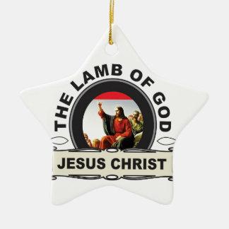 Ornement Étoile En Céramique jc l'agneau d'un dieu