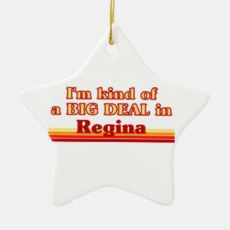 Ornement Étoile En Céramique Je suis un peu une affaire en Regina