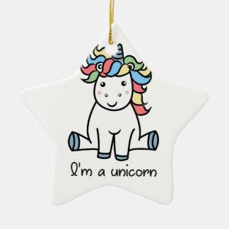 Ornement Étoile En Céramique Je suis une licorne !