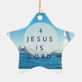 Ornement Étoile En Céramique Jésus est seigneur Star Ornament