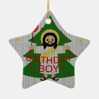 Ornement Étoile En Céramique Jésus - Noël