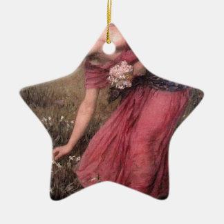 Ornement Étoile En Céramique John William Waterhouse - narcisse - beaux-arts