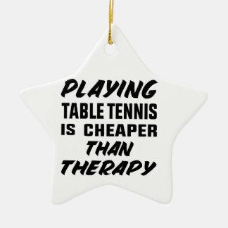 Ornement Étoile En Céramique Jouer au ping-pong est meilleur marché que la