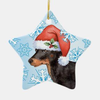 Ornement Étoile En Céramique Jouet heureux Manchester Terrier de Howlidays