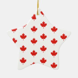 Ornement Étoile En Céramique Jour de nation de pays d'emblème du Canada de