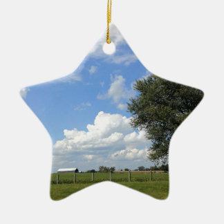 Ornement Étoile En Céramique Jours de grange