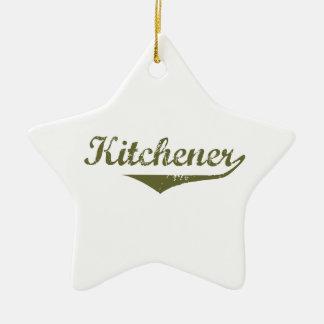 Ornement Étoile En Céramique Kitchener