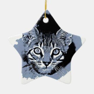 Ornement Étoile En Céramique Kitty mignon