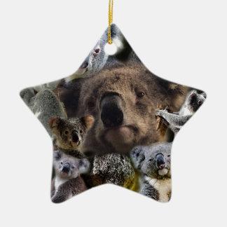Ornement Étoile En Céramique Koala heureux
