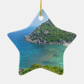 Ornement Étoile En Céramique KOH Tao Thaïlande