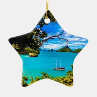 Ornement Étoile En Céramique La belle Thaïlande