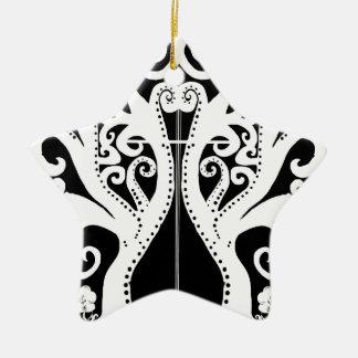 Ornement Étoile En Céramique La croix notre arbre de la vie