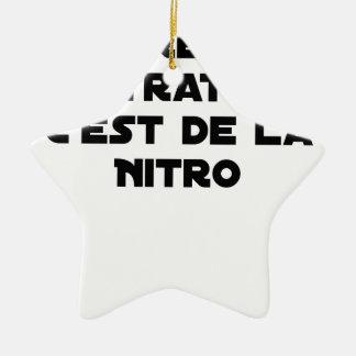 Ornement Étoile En Céramique La Directive Nitrates, c'est de la Nitro - Jeux de