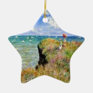 Ornement Étoile En Céramique La falaise de Pourville de Claude Monet