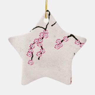 Ornement Étoile En Céramique la fleur antique 3 des fernandes élégants