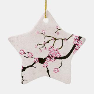 Ornement Étoile En Céramique la fleur antique 5 des fernandes élégants
