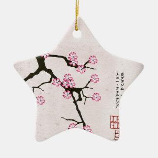Ornement Étoile En Céramique la fleur antique 6 des fernandes élégants
