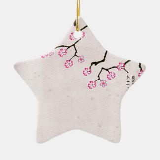Ornement Étoile En Céramique la fleur antique 8 des fernandes élégants