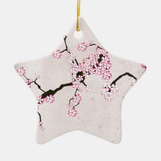Ornement Étoile En Céramique la fleur antique 9 des fernandes élégants