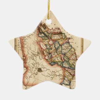Ornement Étoile En Céramique La Géorgie 1817
