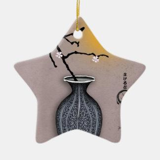 Ornement Étoile En Céramique la lune élégante des fernandes et la fleur de 5